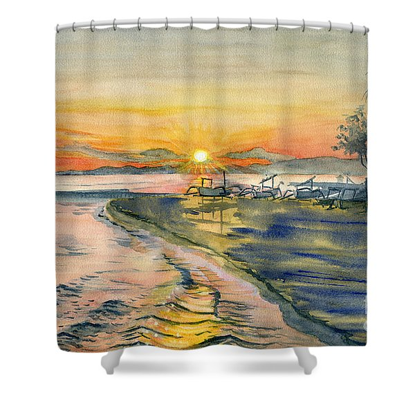 Candidasa Sunset, Bali Indonesia Shower Curtain