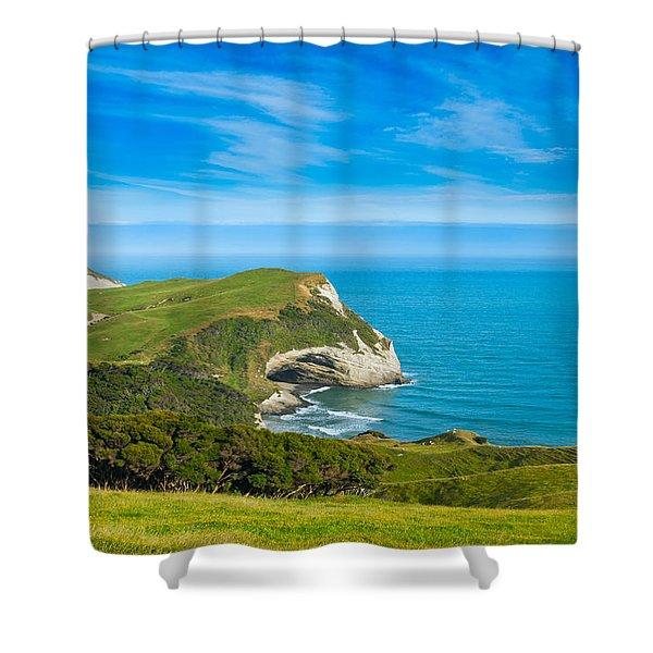 Cape Farewell Able Tasman National Park Shower Curtain