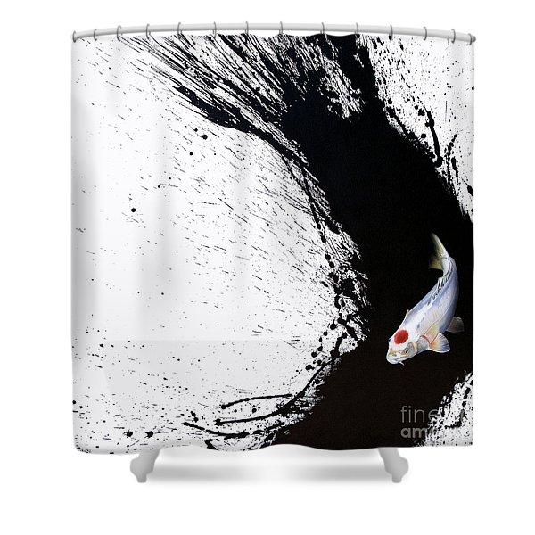 Shower Curtain featuring the painting Carpe Diem by Sandi Baker