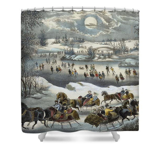 Central Park In Winter Shower Curtain