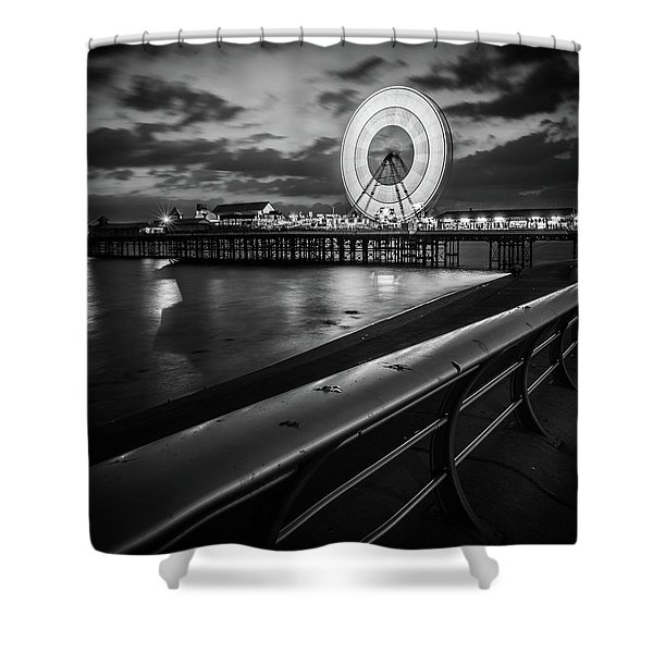Central Pier  Shower Curtain