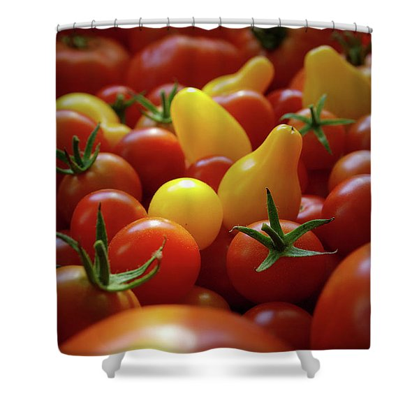 Cherry Tomatoes Shower Curtain