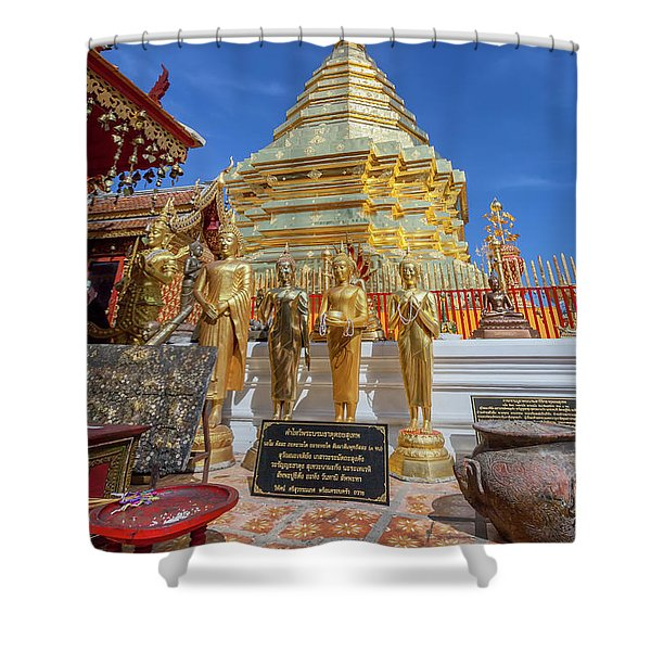 Chiang Mai Temple Shower Curtain