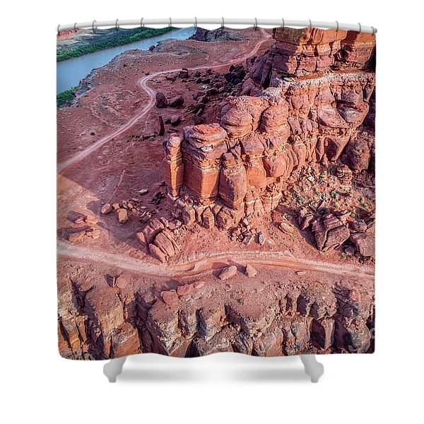 Chicken Corner Trail And Colorado River Shower Curtain