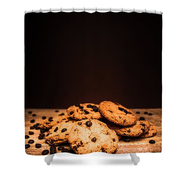 Choc Chip Biscuits Shower Curtain