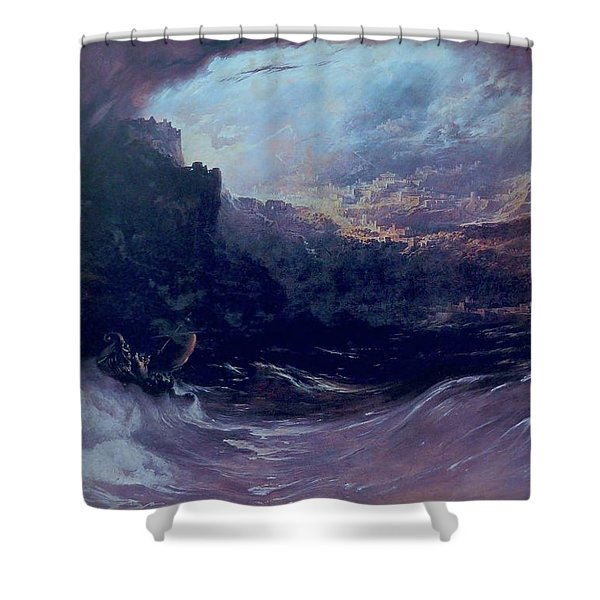 Christ Stilleth The Tempest Shower Curtain