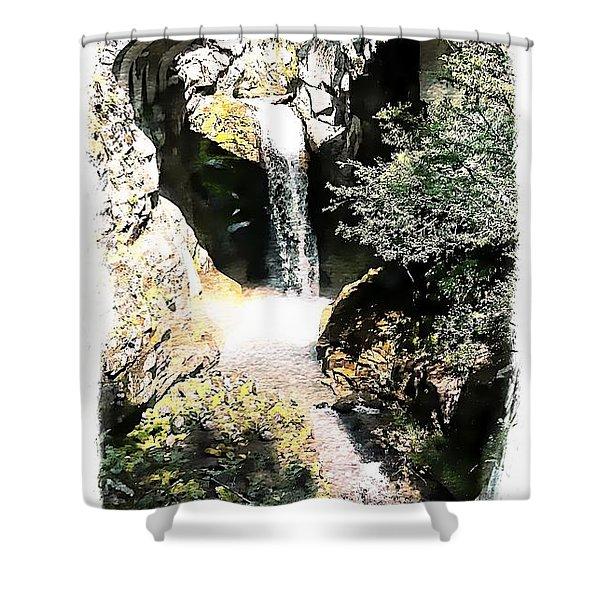 Christine Falls - Mt Rainier National Park Shower Curtain