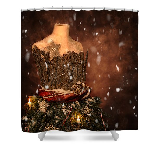 Christmas Mannequin Shower Curtain