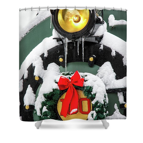 Christmas Train At Pacific Junction Shower Curtain