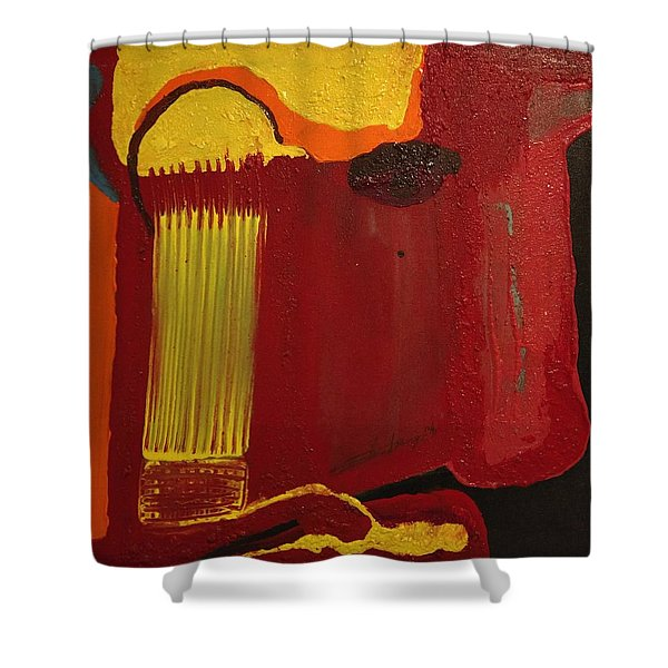 Christ's Profile Shower Curtain