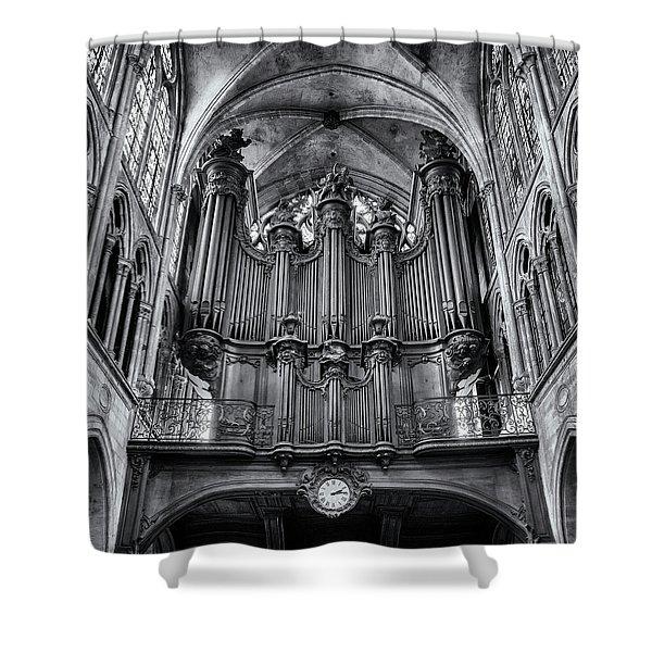 Church Of Saint-severin Organ - #1 Shower Curtain