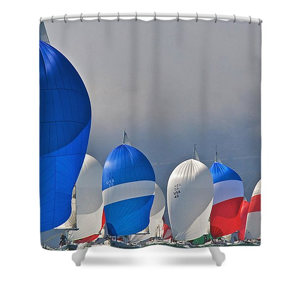 City Spinnakers Shower Curtain