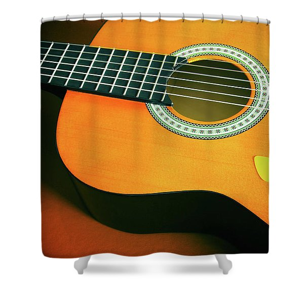 Classic Guitar  Shower Curtain