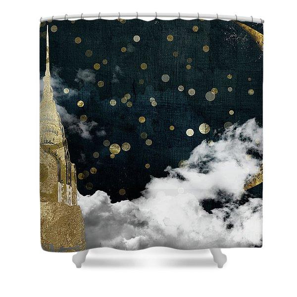 Cloud Cities New York Shower Curtain