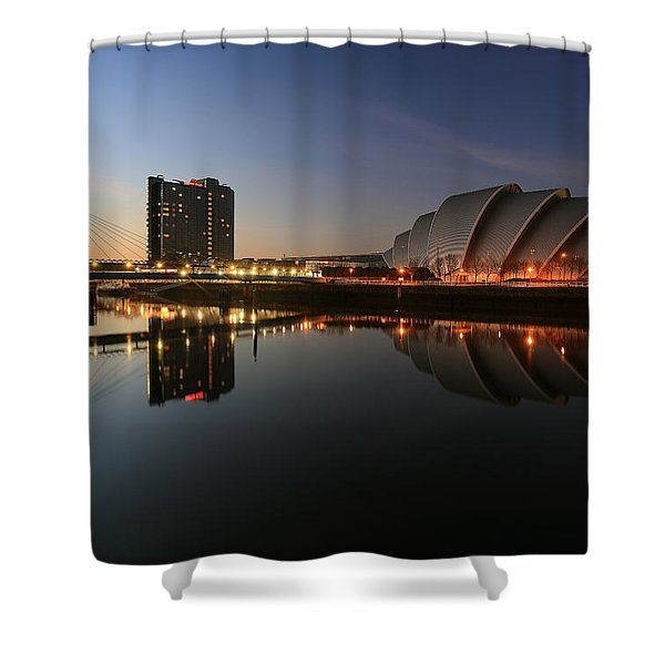 Clydeside Reflections  Shower Curtain