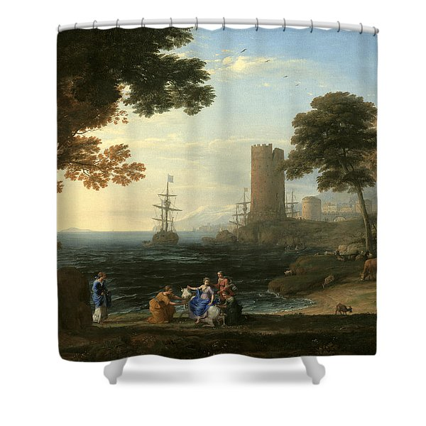 Coast View With The Abduction Of Europa Shower Curtain
