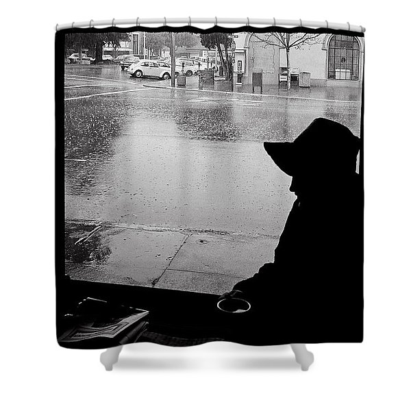 Coffee In The Rain Shower Curtain