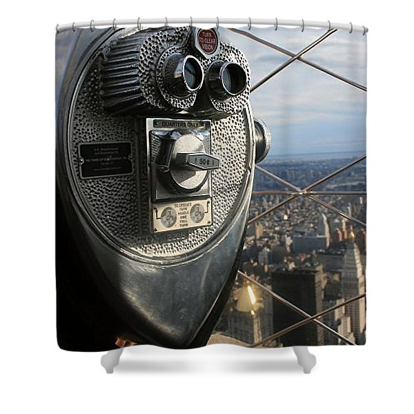 Shower Curtain featuring the photograph Coin Operated Viewer by Debbie Cundy