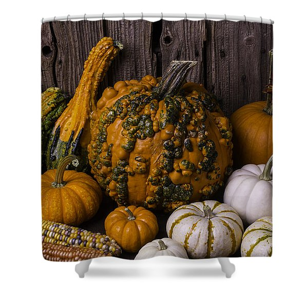 Colorful Autumn Still Life Shower Curtain