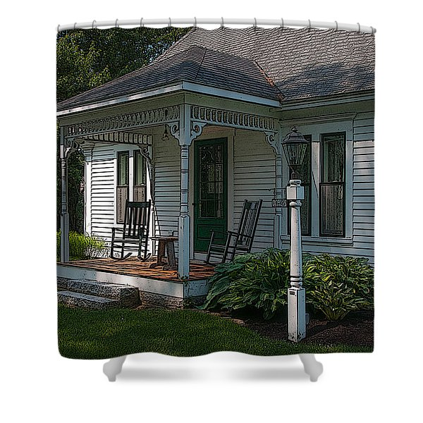 Come Sit On My Porch Shower Curtain