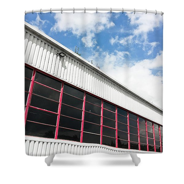 Commercial Building Shower Curtain