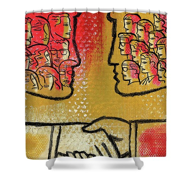 Community And Cooperation Shower Curtain
