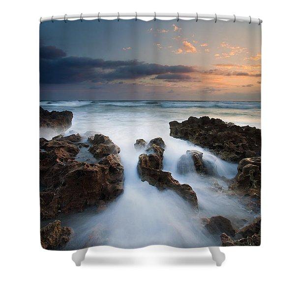 Coral Cove Dawn Shower Curtain