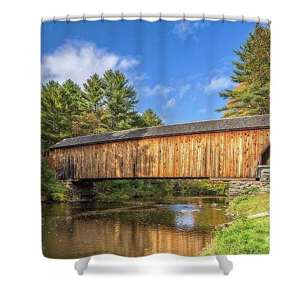 Corbin Covered Bridge Newport New Hampshire Shower Curtain