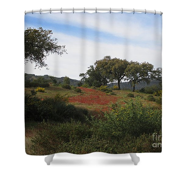 Cork Oaks Shower Curtain