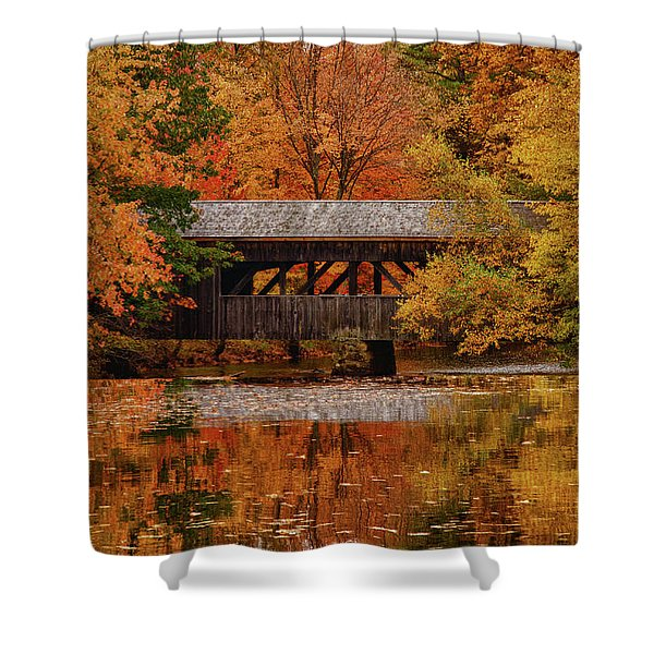 Covered Bridge At Sturbridge Village Shower Curtain