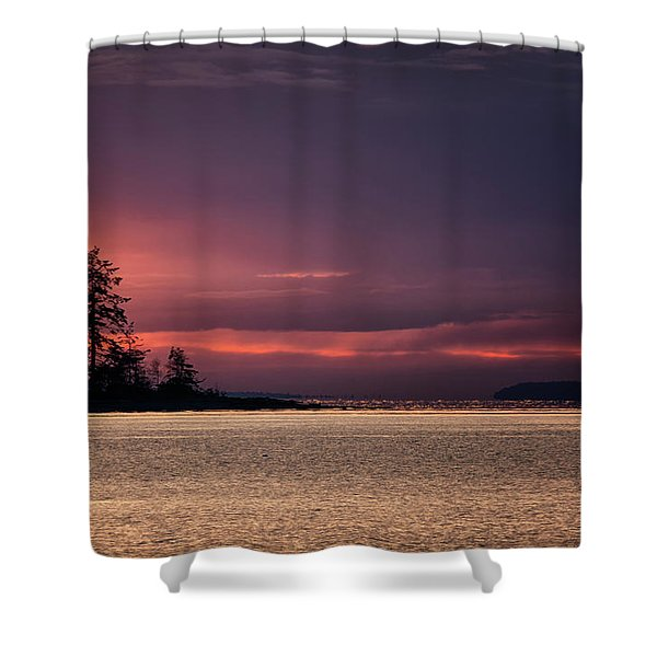 Shower Curtain featuring the photograph Craig Bay Sunset by Randy Hall