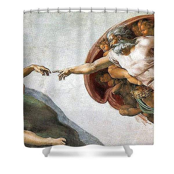 Creation Of Adam Shower Curtain