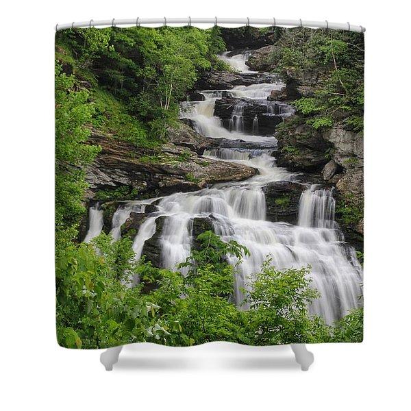 Cullasaja Falls Shower Curtain