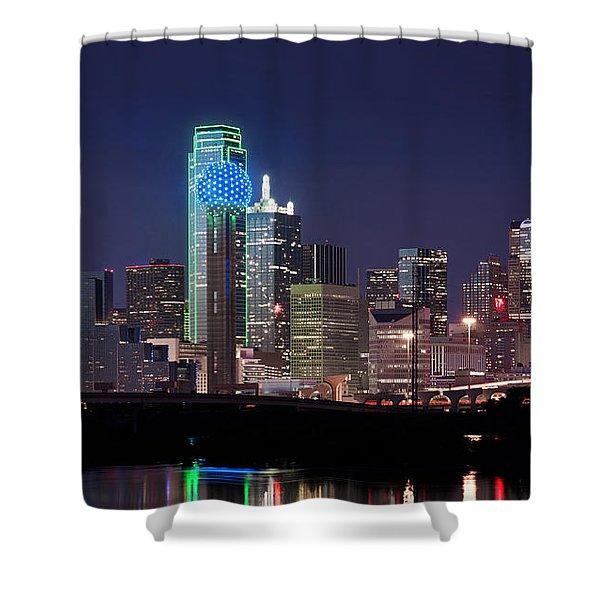 Dallas Skyline Cowboys Shower Curtain