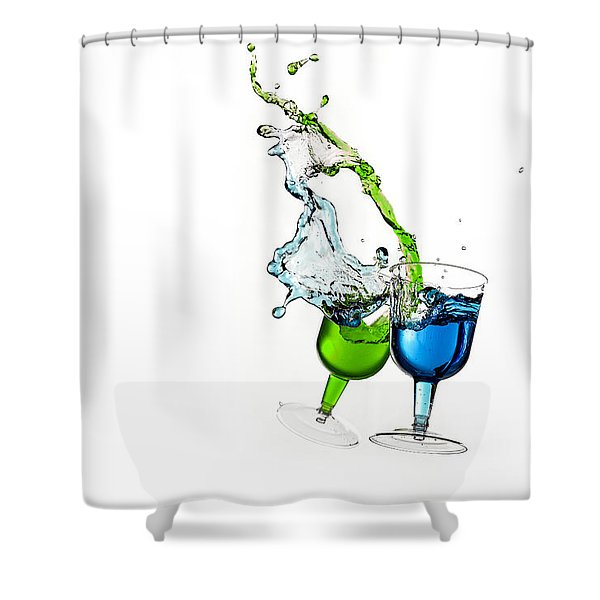 Dancing Drinks Shower Curtain