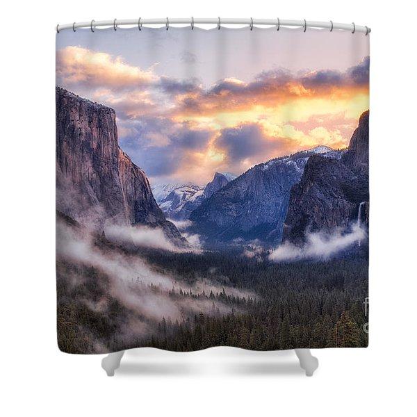 Daybreak Over Yosemite Shower Curtain
