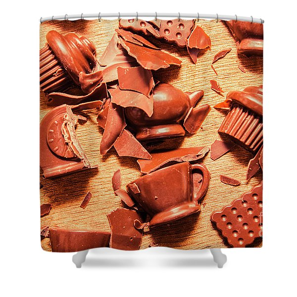 Death By Chocolate Shower Curtain