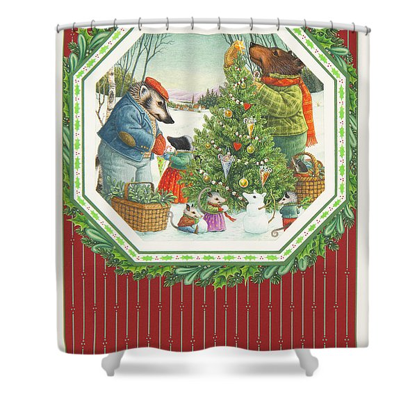 Decorating The Tree Shower Curtain