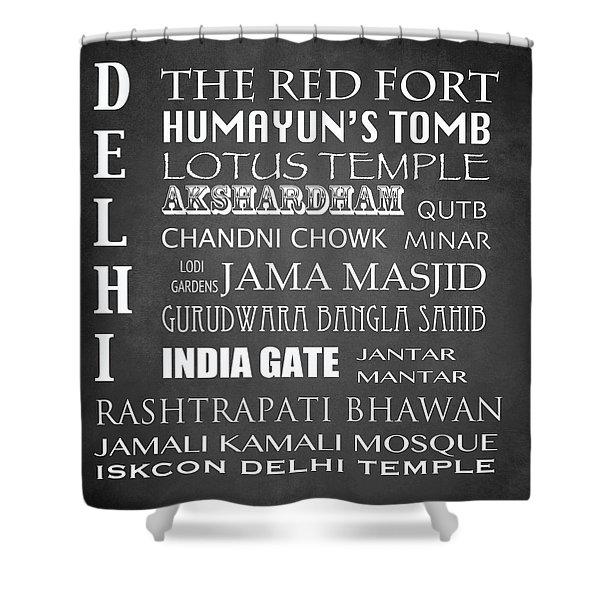 Delhi Famous Landmarks Shower Curtain