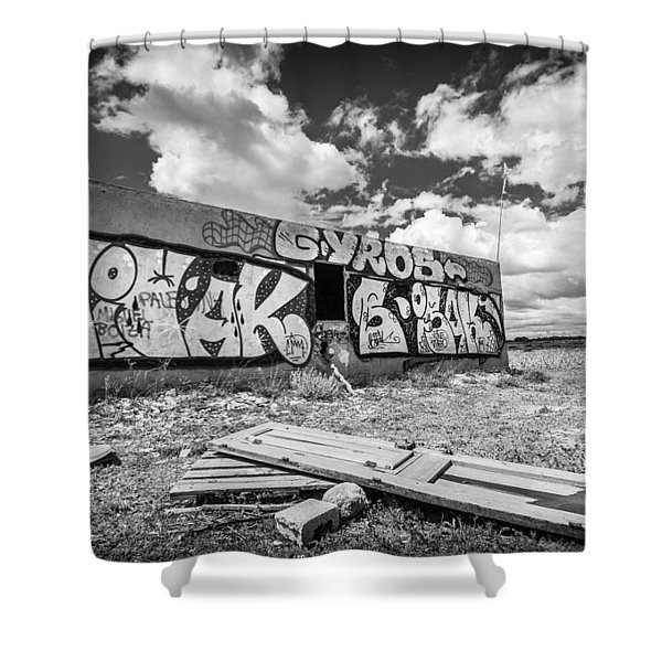 Derelict Building. Shower Curtain