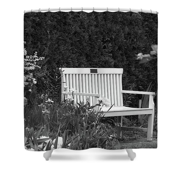 Desolate In The Garden Shower Curtain