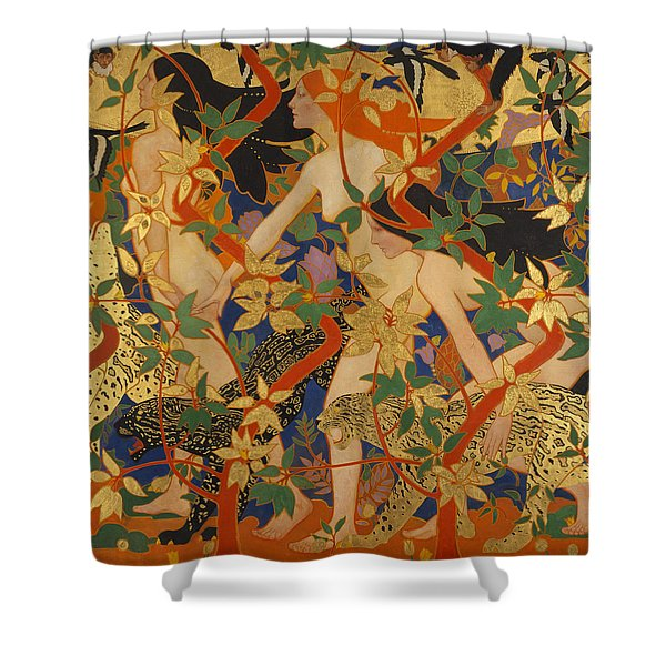 Diana And Her Nymphs Shower Curtain