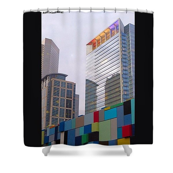 #downtown #houston From #discoverygreen Shower Curtain