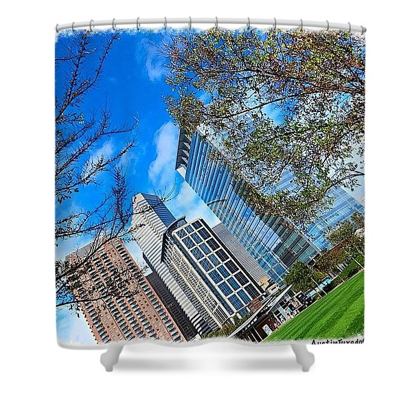#downtown #houston On A #beautiful Shower Curtain
