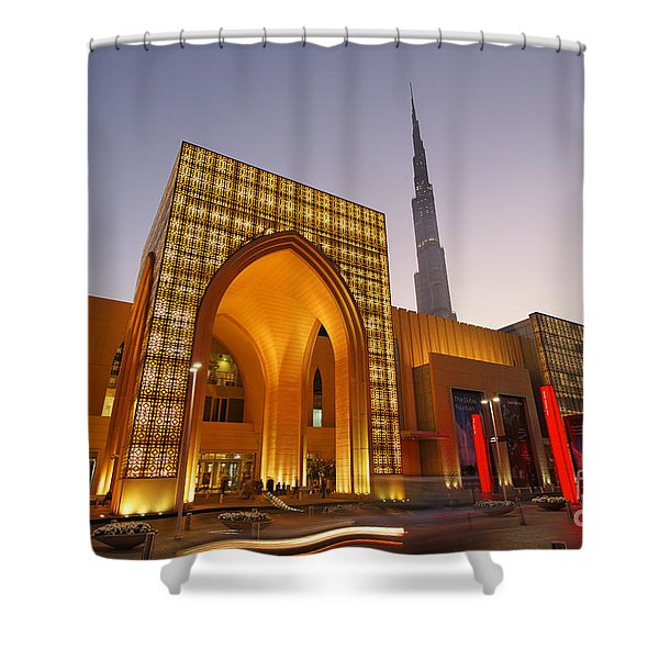 Shower Curtain featuring the photograph Dubai Burj Khalifa by Juergen Held