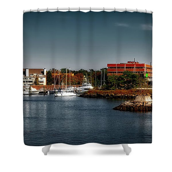 Dyke Park Marina Shower Curtain