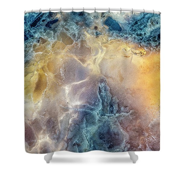 Earth Portrait Shower Curtain