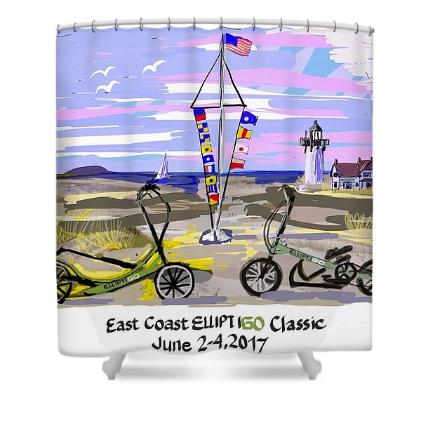 East Coast Elliptigo Classic Shower Curtain
