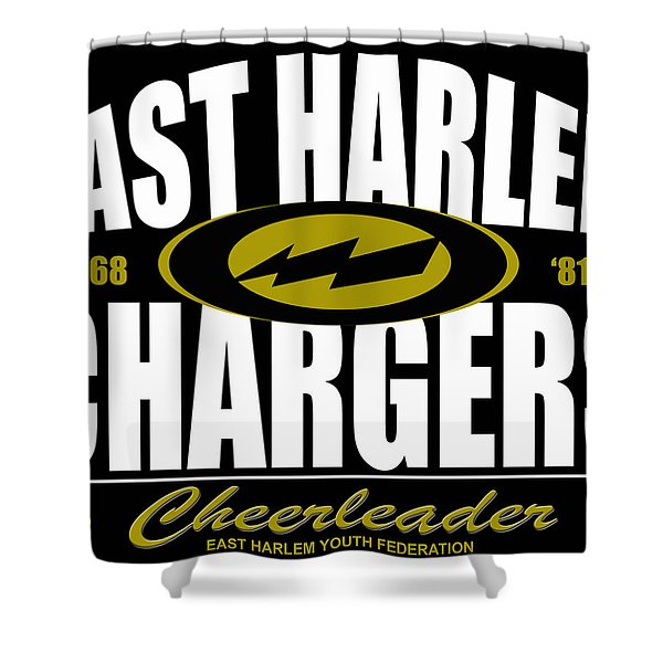 East Harlem Chargers Cheerleader Shower Curtain