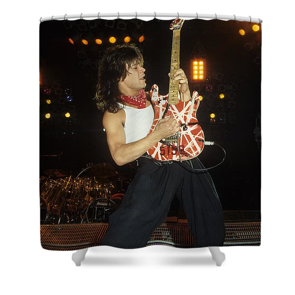 Eddie Van Halen Shower Curtain